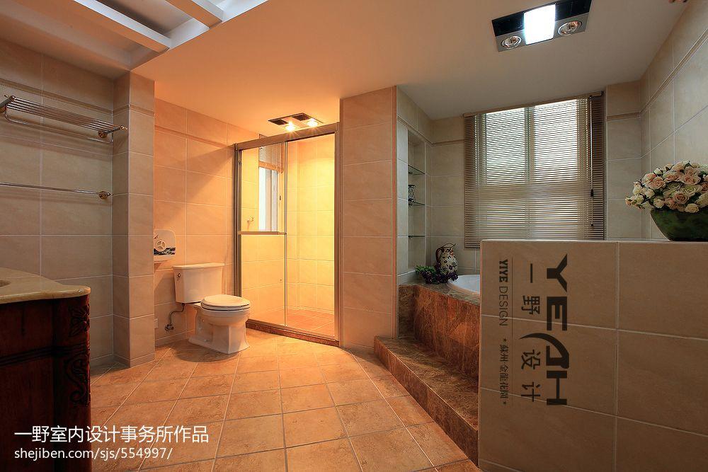 欧式卫生间淋浴房装修设计效果图
