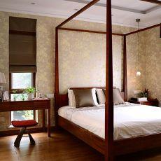 92平米三居卧室现代装修效果图片欣赏