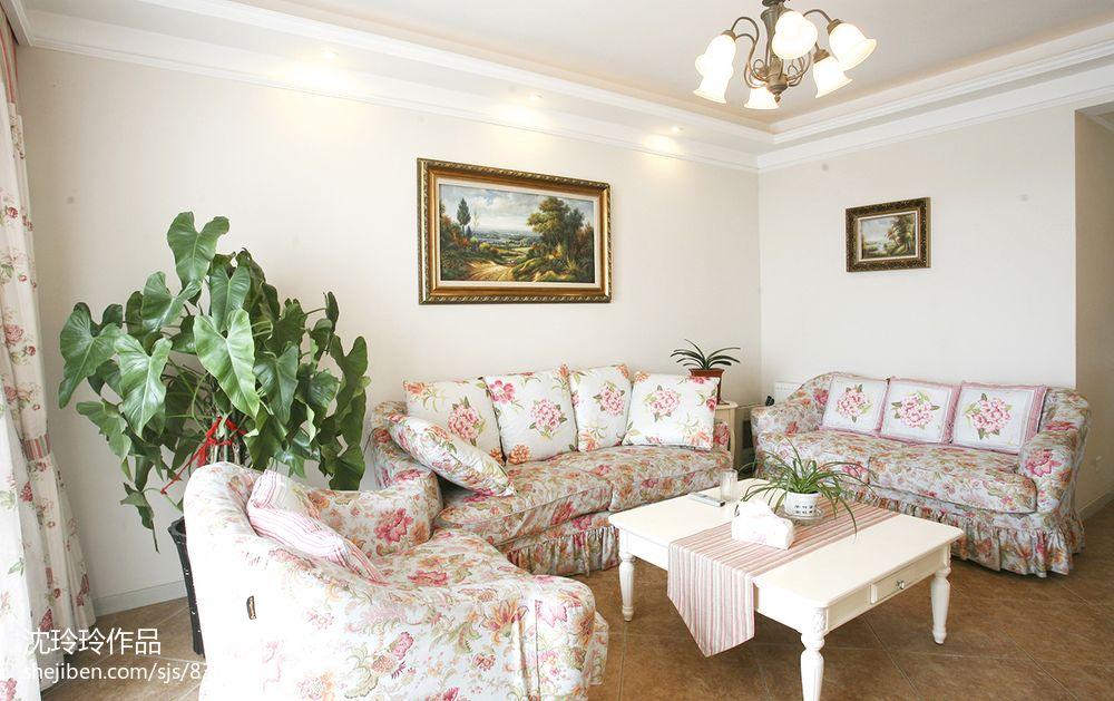 精选面积136平混搭四居客厅装饰图