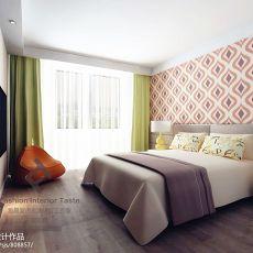 热门100平米三居卧室混搭装修欣赏图片