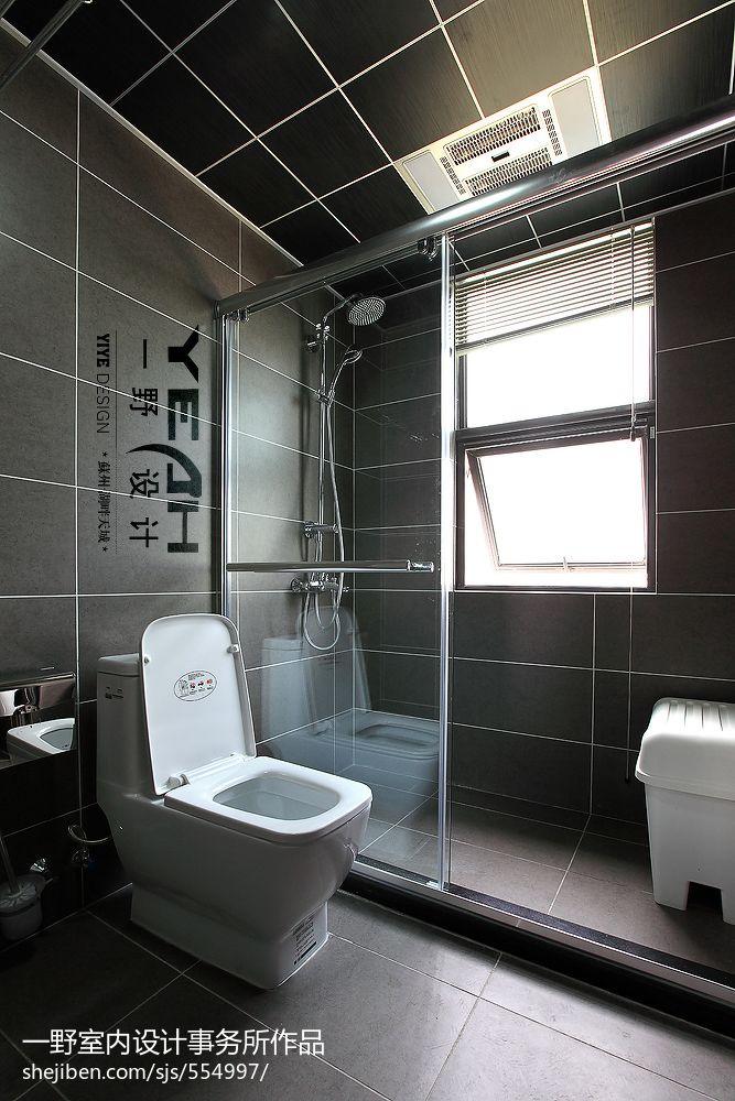 现代风格婚房卫生间隔断装修效果图