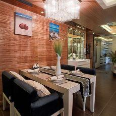 热门106平米三居餐厅现代装修欣赏图片