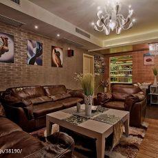 精美面积109平现代三居客厅效果图片大全