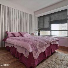 精美97平米三居卧室现代实景图片欣赏