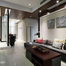 精选面积102平中式三居客厅装修实景图片欣赏
