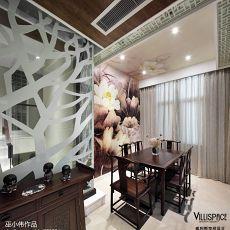 热门103平方三居餐厅中式设计效果图