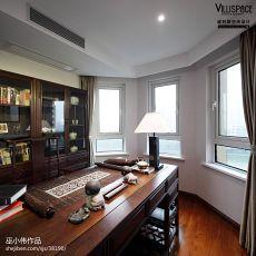 2018100平米三居书房中式效果图片
