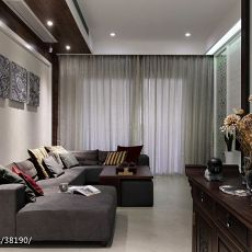 精美面积95平中式三居客厅装修欣赏图