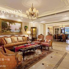 2018精选96平方三居客厅美式装饰图片大全
