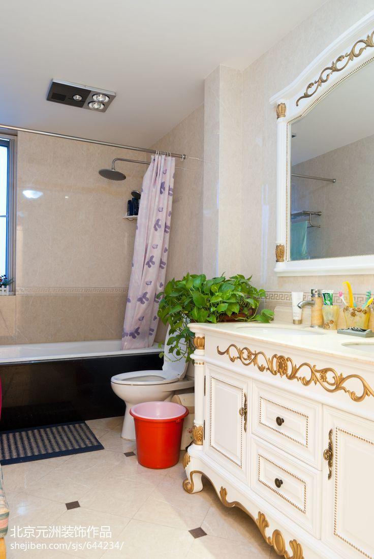 面积124平混搭四居卫生间装饰图片大全