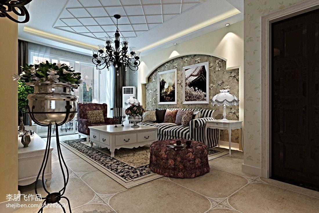 新中式设计别墅室内吧台装修图片