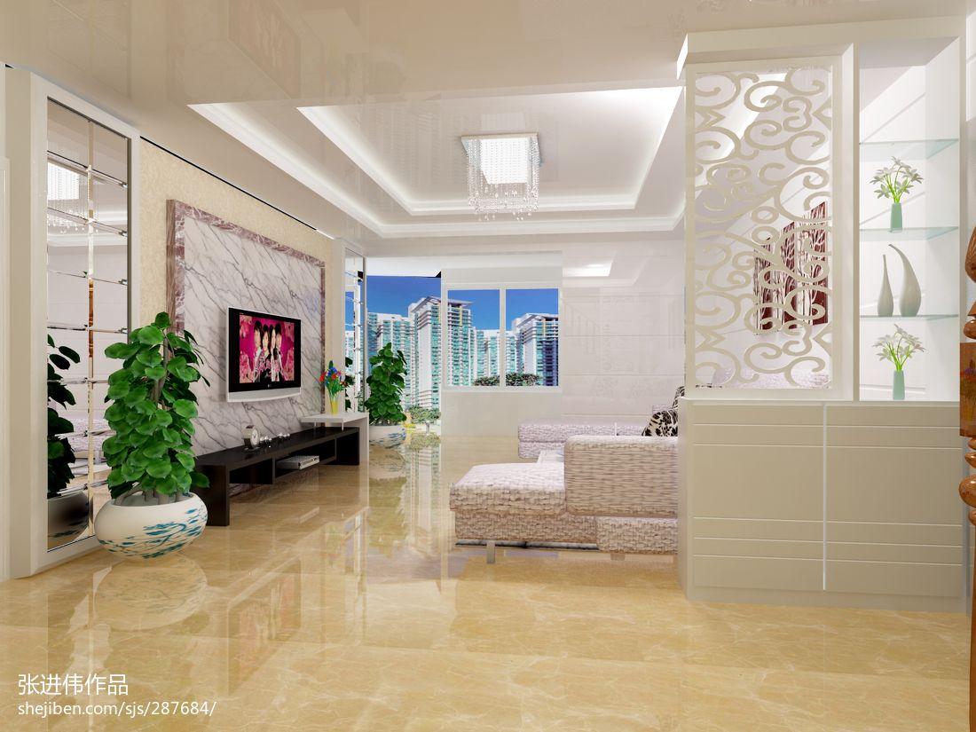 2013复式楼客厅电视背景墙装修效果图