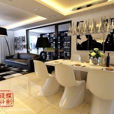 热门138平米四居餐厅混搭装修设计效果图片欣赏