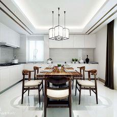 97平米三居厨房混搭装修欣赏图片