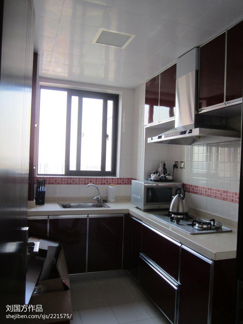 精美82平米二居厨房混搭装修设计效果图片欣赏