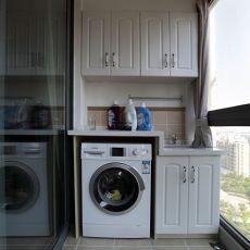 面积81平混搭二居阳台装修设计效果图片欣赏