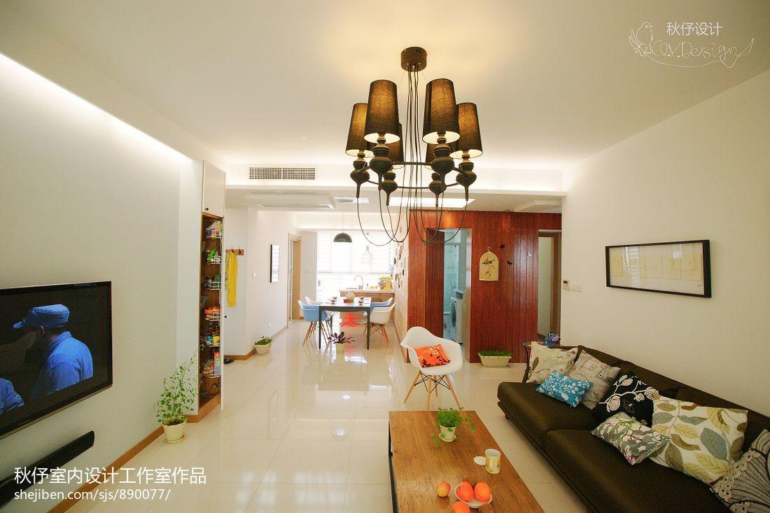 精选109平方三居客厅混搭实景图片欣赏