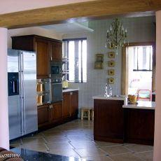 2018别墅厨房混搭装修实景图片大全