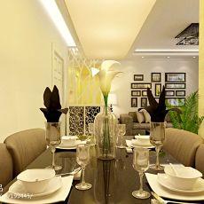 热门108平方三居餐厅混搭装饰图片