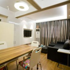 87平米现代小户型客厅效果图