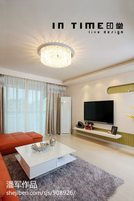 精美大小78平混搭二居客厅效果图
