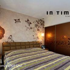 面积75平混搭二居卧室装修实景图