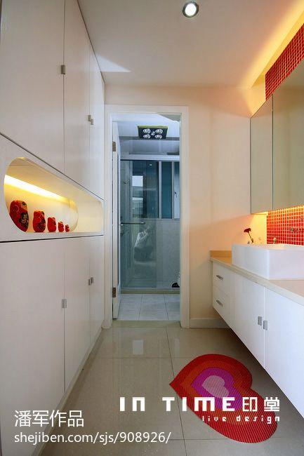 面积80平混搭二居卫生间装修设计效果图片