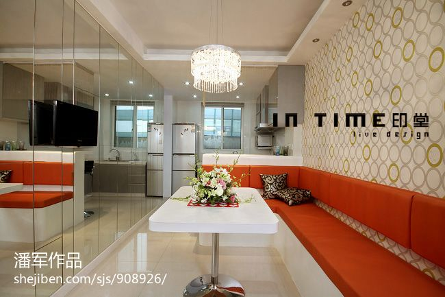76平方二居餐厅混搭装修设计效果图片大全