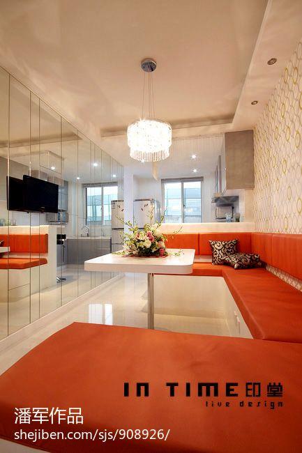 77平米二居餐厅混搭装修设计效果图片欣赏