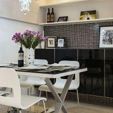 精美面积104平混搭三居餐厅装修设计效果图