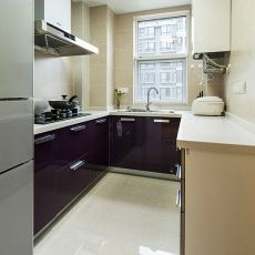 大小91平混搭三居厨房效果图片