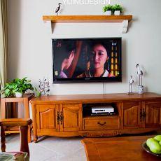 美式电视柜装修效果图