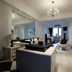 2018精选面积87平现代二居客厅装修图片欣赏