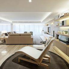 精选面积128平现代四居客厅装修图