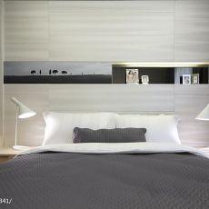 热门大小115平现代四居卧室设计效果图