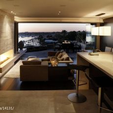 2018精选128平米混搭别墅客厅装修设计效果图片