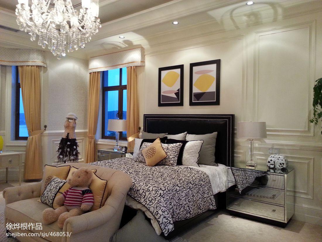 精选面积132平别墅卧室混搭装修图片欣赏