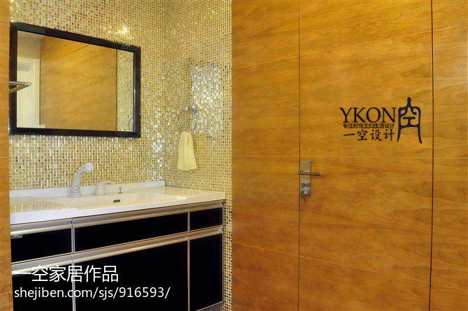 热门80平米二居卫生间混搭装修欣赏图片
