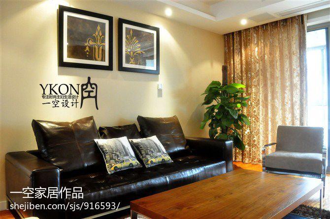 88平方二居客厅混搭装修图片大全