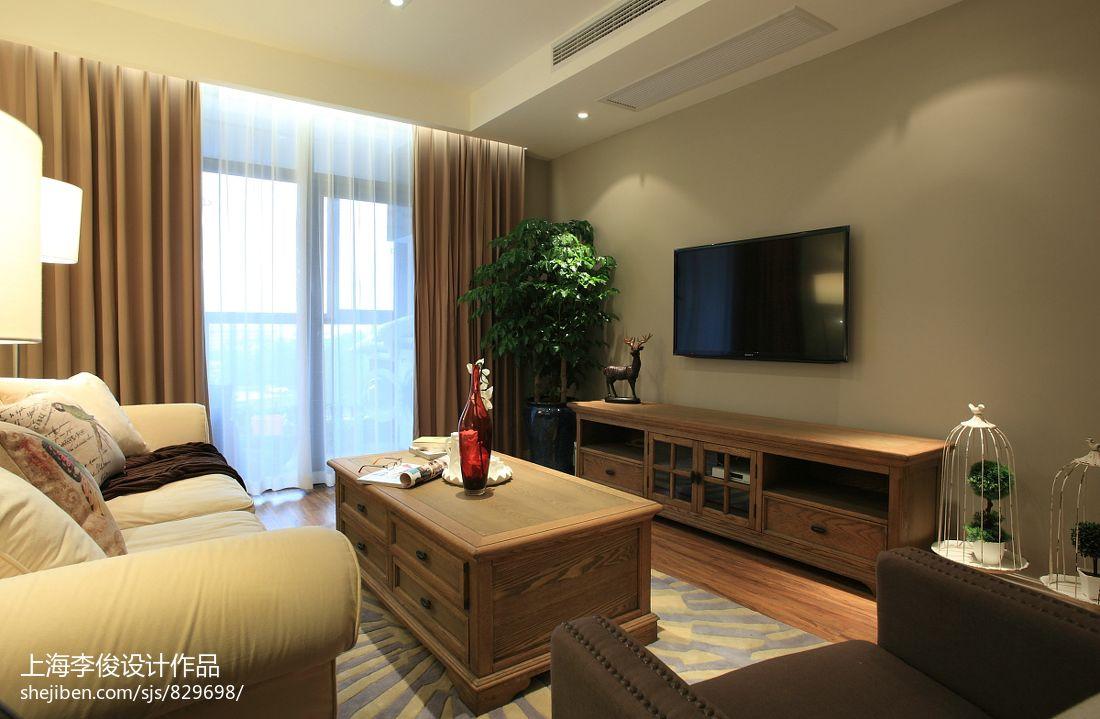 精选大小78平混搭二居客厅装修效果图片大全