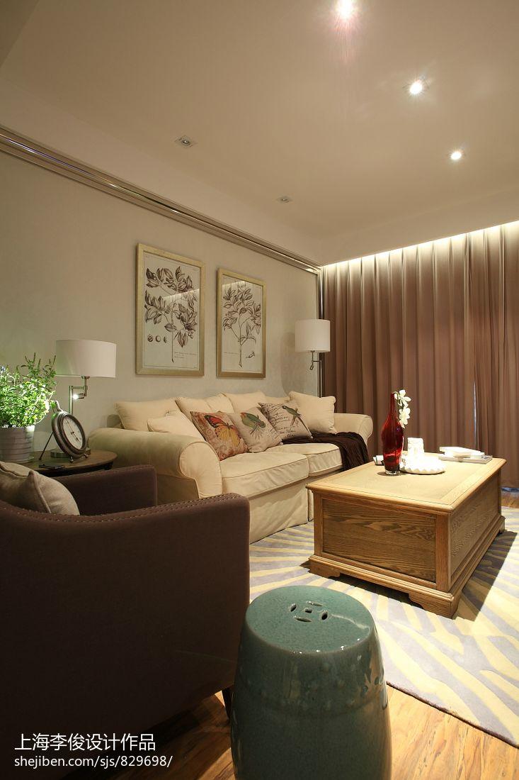 热门83平方二居客厅混搭效果图