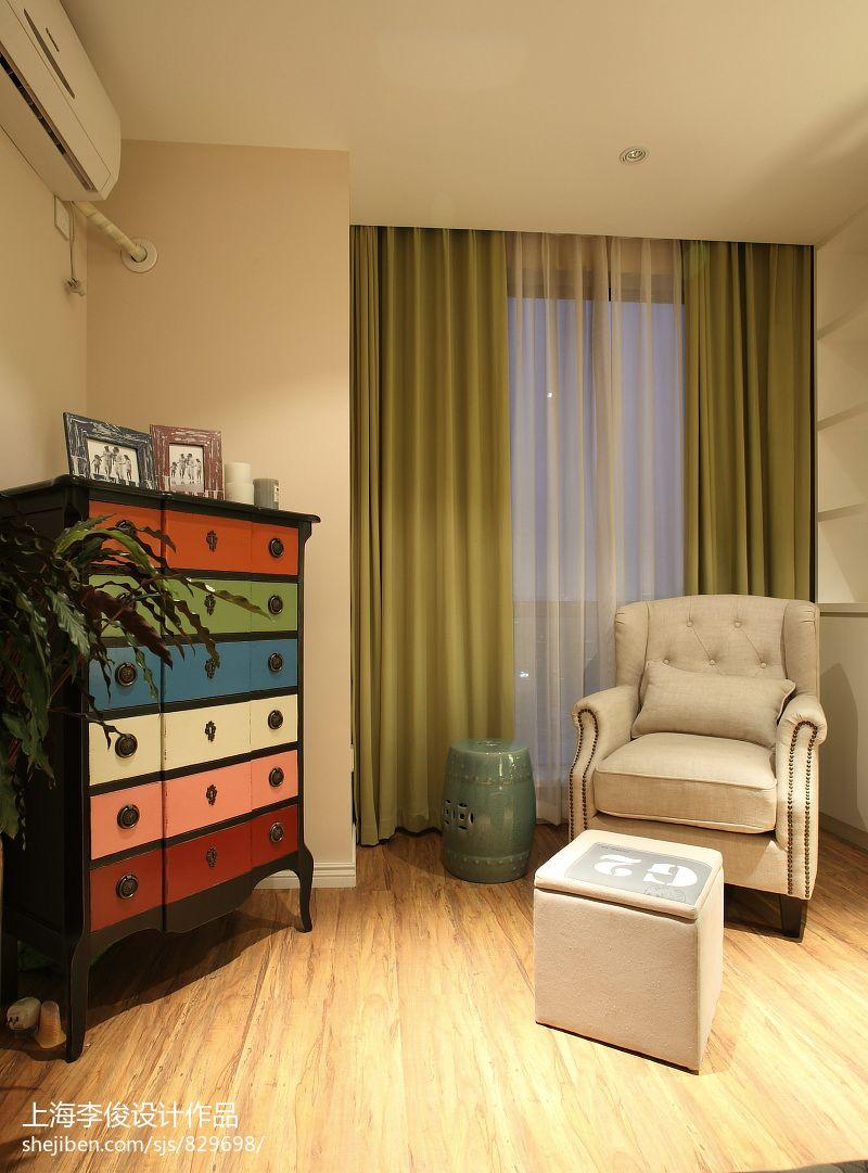 精选78平米二居卧室混搭装修设计效果图