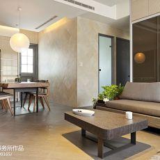 2018面积101平现代三居餐厅实景图