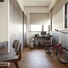 精美98平米三居书房现代效果图片大全