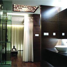 精美面积111平别墅卫生间混搭装修图片欣赏