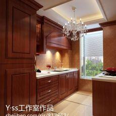 面积97平混搭三居厨房欣赏图