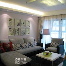 精美70平二居客厅混搭装修欣赏图