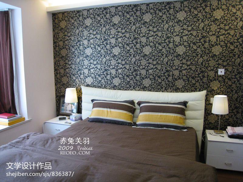 小户型卧室床头壁纸背景墙