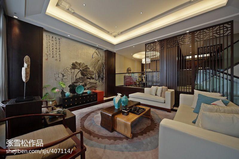 精美116平米混搭复式客厅装修效果图片大全