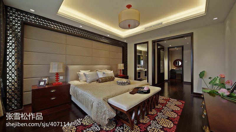 面积129平复式卧室混搭装修欣赏图片